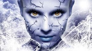 Cracks Face Fantasy Girl Lipstick Woman 1920x1200 wallpaper