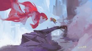 Artwork Fantasy Art Astronaut Fish 1920x1090 Wallpaper