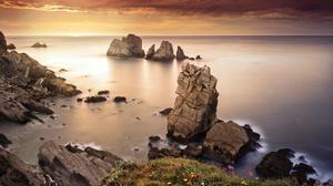 Coast Horizon Nature Rock 2560x1707 Wallpaper