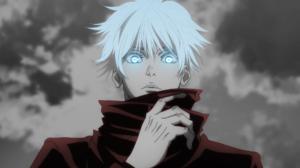 Gojo Satoru Satoru Gojo Anime Boys Jujutsukaisen Eyes White Hair 1920x1080 Wallpaper