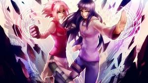 Hyuuga Hinata Anime Haruno Sakura Naruto Shippuuden Kunoichi Anime Girls 1920x1268 Wallpaper