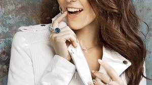 Sati Kazanova Women Singer Russian Russian Women Model Brunette Smiling Coats Jacket White Jacket 2000x3000 Wallpaper