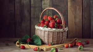 Basket Berry Fruit Still Life 4500x3000 wallpaper