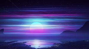 Artwork Night Sky Sea Stars Kvacm 2560x1600 wallpaper