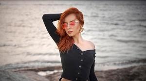 Depth Of Field Girl Model Mood Redhead Sunglasses Woman 2560x1707 Wallpaper