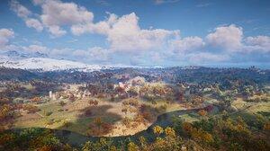 Assassins Creed Assassins Creed Valhalla Orange Landscape 2752x1152 Wallpaper