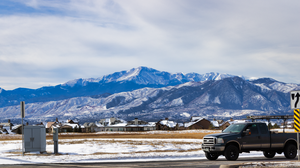 Colorado Mountain Top Landscape Truck Snow Nature Photography Ford Ford F 250 3840x2160 Wallpaper