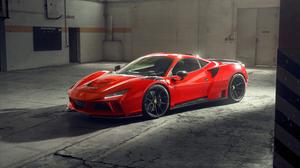 Ferrari F8 Tributo Ferrari Car Supercars Italian Supercars Vehicle Novitec Red Cars Warehouse Natura 3840x2160 Wallpaper