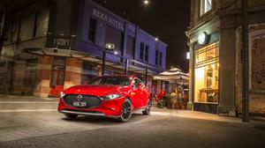 Car Compact Car Mazda Mazda 3 Red Car Vehicle 4134x2756 Wallpaper