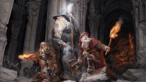 Dwarf Gandalf Lord Of The Rings Staff Torch Warrior Wizard 1920x1268 Wallpaper