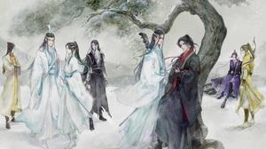 Lan Wangji Lan Zhan Wei Wuxian Wei Ying Lan Xichen Lan Sizhui 1920x1080 Wallpaper
