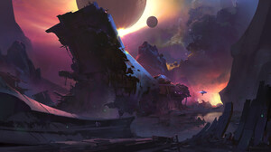 Space Spaceship Planet Science Fiction 3200x1800 Wallpaper