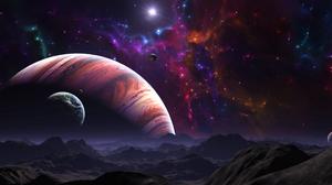 Planet Planet Rise Planetscape Space Stars 5120x2880 wallpaper