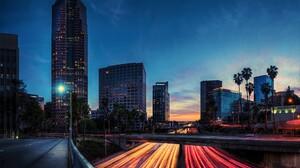 Night City Building California Light Time Lapse Los Angeles 1920x1200 Wallpaper