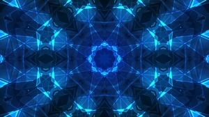 Abstract 4K Kaleidoscope Blue Background 3840x2160 Wallpaper