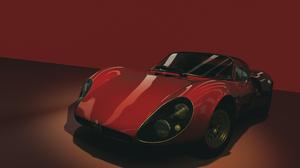 Assetto Corsa Alfa Romeo 33 Stradale Alfa Romeo Red Background Car Vehicle 3440x1440 Wallpaper