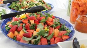 Blueberry Carrot Food Fruit Melon Plate Strawberry Watermelon 5184x3456 Wallpaper