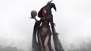 Girl Hood Skull Witch 3800x2020 Wallpaper