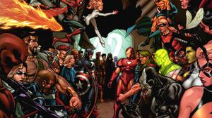Captain America Daredevil Human Torch Marvel Comics Invisible Woman Iron Man Ms Marvel Sentry Comics 2560x1940 Wallpaper