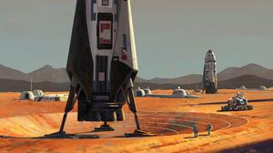 Astronaut Vehicle Building 2560x1440 Wallpaper
