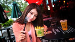 Julie Chang Girl Model Asian Taiwanese Zhang Qi Jun 5616x3744 Wallpaper