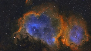 Heart Shaped Nebula Space Stars 3312x2492 Wallpaper