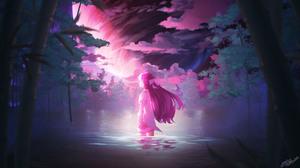 Porter Robinson EDM Artwork Digital Art Illusion Anime Girls 2560x1440 Wallpaper