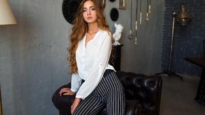 Dmitry Shulgin Women Indoors Women Indoors Model Long Hair Looking At Viewer 2048x1365 Wallpaper