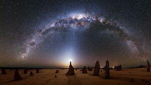 Milky Way Starscape Skyscape Sky Astronomy 1920x1080 Wallpaper