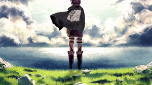 Eren Yeager Shingeki No Kyojin Scouting Legion 3445x2425 Wallpaper