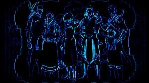 Avatar Avatar The Last Airbender The Legend Of Korra Anime Neon Blue Edge Edges 1920x1080 Wallpaper