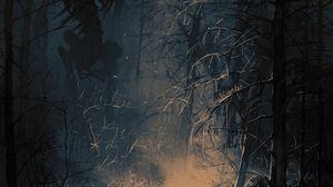 Creepy Creature Giant Skeleton Night Boris Groh 1626x2000 Wallpaper