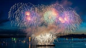 Fireworks Night 2048x1152 Wallpaper