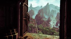 Video Game Art Uncharted Uncharted The Lost Legacy Uncharted 4 Mountain Top Door Screen Shot PlaySta 1920x1080 Wallpaper