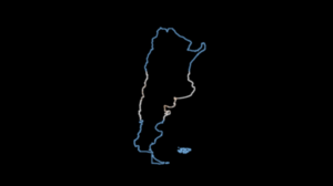 Argentina Minimalism Neon Outline Map Black Background 3840x2160 Wallpaper