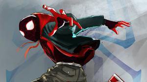 Marvel Comics Miles Morales Spider Man Spider Man Into The Spider Verse 3840x2160 Wallpaper