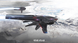 Star Atlas Science Fiction PC Gaming Vehicle Spaceship 2021 Year 3840x1936 wallpaper
