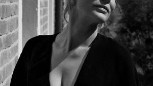 Cate Blanchett Women Closed Eyes Short Hair Outdoors Bricks Monochrome Actress Women Outdoors Face 1440x2117 Wallpaper