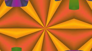 Artistic Colors Digital Art Geometry Kaleidoscope Pattern Shapes 1920x1080 Wallpaper