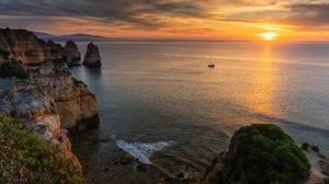 Nature Outdoors Sea Sky Horizon Sunlight Rock Cliff Coast 1920x1080 Wallpaper
