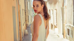 Barbara Palvin Blue Eyes Brunette Hungarian Lipstick Model 2980x1987 Wallpaper