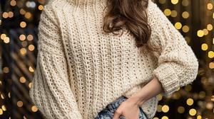 Aleksandr Margolin Women Brunette Long Hair Sweater Makeup White Clothing Jeans Denim Hands In Pocke 1200x1800 Wallpaper