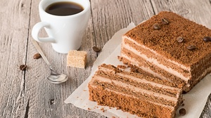 Cake Coffee Cup Dessert Pastry Still Life 3000x2000 Wallpaper