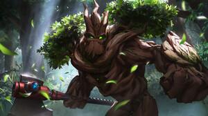 Axe Creature Grover Paladins Paladins Video Game Tree Warrior 1920x1080 Wallpaper