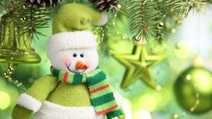 Bell Christmas Decoration Green Snowman Star 1920x1200 Wallpaper