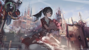 Anime Girls Original Characters Red Flowers Zygo 4096x1784 Wallpaper