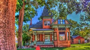 Colorful Hdr House Tree Utah 3009x2000 Wallpaper