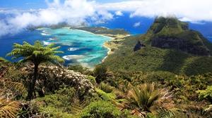 Cloud Forest Island Jungle Lagoon Landscape Mountain Ocean Scenic Sea Sky Tropics 1920x1200 Wallpaper