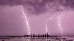 Lightning Storm Nature Sky Clouds Time Lapse 2560x1440 Wallpaper