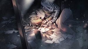 Anime Anime Girls Schatten Virtual Youtuber Blonde 3840x2160 wallpaper